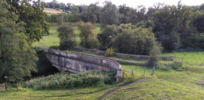 The Midford Aqueduct is the most significant architectural structure on the Somersetshire Coal Canal